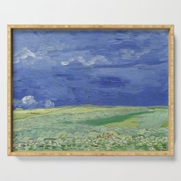 Wheatfield under Thunderclouds Serving Tray