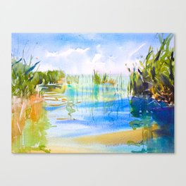 Reeded Lake Canvas Print