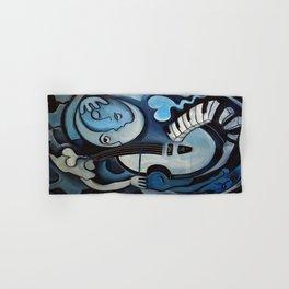 Black & Bleu Hand & Bath Towel