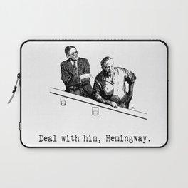 James Joyce x Ernest Hemingway - Drunken Shenanigans Painting Laptop Sleeve