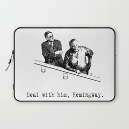James Joyce x Ernest Hemingway - Drunken Shenanigans Painting Laptop Sleeve