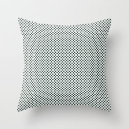 PPG Glidden Trending Colors of 2019 Night Watch PPG1145-7 Polka Dots on Delicate White PPG1001-1 Throw Pillow