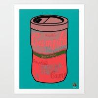 Art Print featuring Campbell's Remix Aqua by Raheem Nelson