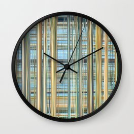 421 - Abstract striped design Wall Clock