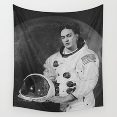 Frida in Space Wall Tapestry
