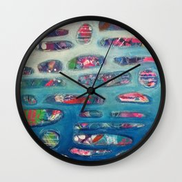 Ocean Commotion Wall Clock