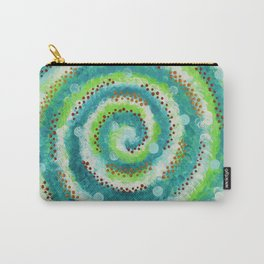 Dotty Spiral Carry-All Pouch