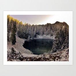 Wagonwheel Lake Frozen Art Print