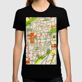 Jerusalem Map Design T-shirt