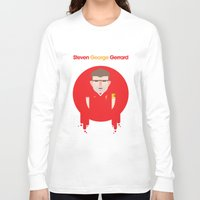 liverpool Long Sleeve T-shirts featuring Steven Gerrard Liverpool Illustration by Gary  Ralphs Illustrations