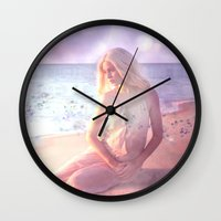daenerys Wall Clocks featuring Contemplate by SuzanneCarter