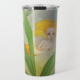 Gold fish mermaid Travel Mug