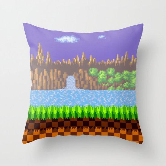 Green Hill Throw Pillow