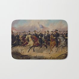 Grant and His Generals Painting Bath Mat