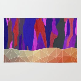 Abstract Colorful Pastel look Design Rug