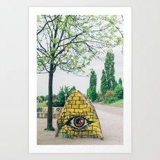 All Seeing Eye in Mauer Park, Berlin, Germany Art Print