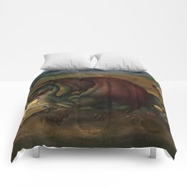 Red Winged Dragon Comforters