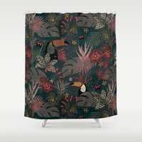 jungle Shower Curtains featuring Jungle by Kimsa