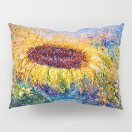 Sunflower Painting - In The Swirls Of Sunshine  Pillow Sham
