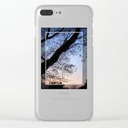 Sakura Dreaming Clear iPhone Case