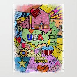 USA Popart 2018 by Nico Bielow Poster