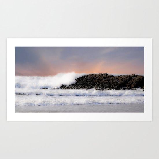 Passion in the waves Art Print