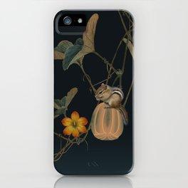 Gourd Vine and Chipmunk iPhone Case