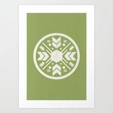 Aztec No. 1 Art Print