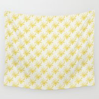 sunshine Wall Tapestries featuring Sunshine by Leah Flores