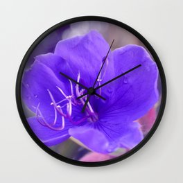 Melancholy violet by #Bizzartino Wall Clock