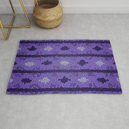 Aztec Deep Purple Mosaic Design Rug