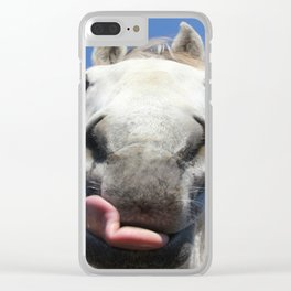 Horse Licks Photography Print Clear iPhone Case