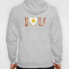 Bacon and Egg Love Valentines Day Heart Hoody