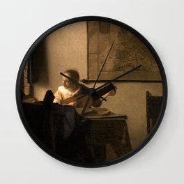 "Johannes Vermeer ""Woman with a Lute near a Window"" Wall Clock"