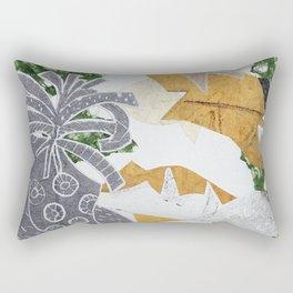 Monoprint Collage Rectangular Pillow