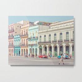 Street Life - Havana Cuba Travel Photography Metal Print