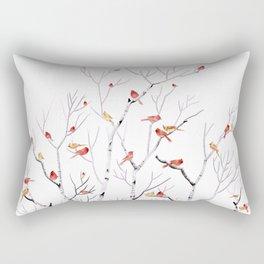 Birch Trees and Cardinal 2  Rectangular Pillow