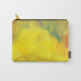 yellow abstract texture aol paind. hand drawn testure Carry-All Pouch