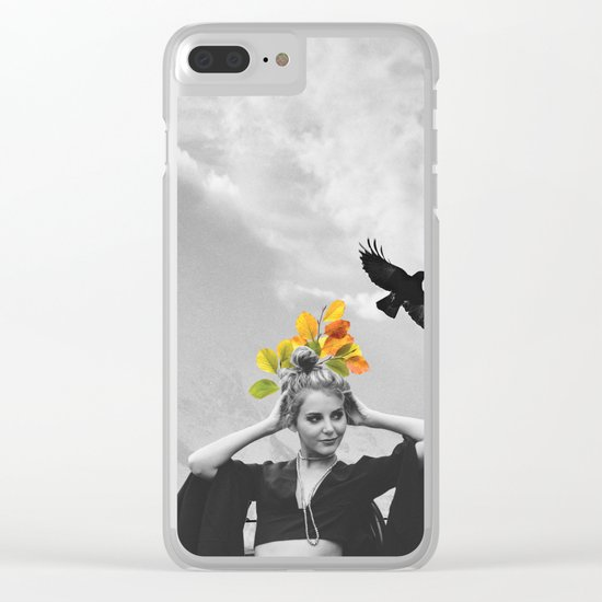 CROW GIRL Clear iPhone Case