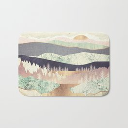 Golden Spring Reflection Bath Mat