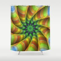 fractal Shower Curtains featuring Fractal by David Zydd