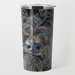 Pokey the Black Labradoodle Travel Mug