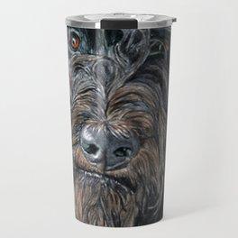 Pokey the Black Labradoodle Travel Mug