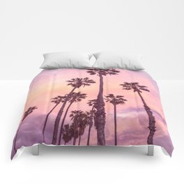Palms to Pink World Comforters