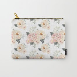 Bouquets pattern. Blush pink peonies. Carry-All Pouch