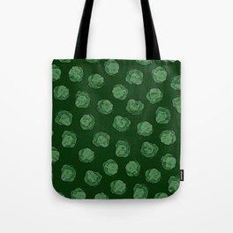 Brussels Sprouts Pattern Tote Bag