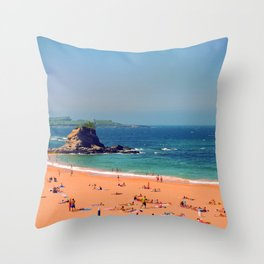 Summer in the North of Spain Throw Pillow