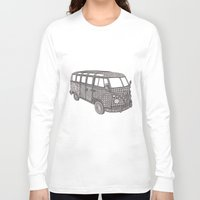 volkswagon Long Sleeve T-shirts featuring Tangled VW Bus - side view by Cherry Creative Designs