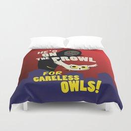 Careless Owls Duvet Cover