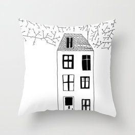 HOUSE ILLUSTRATION Throw Pillow